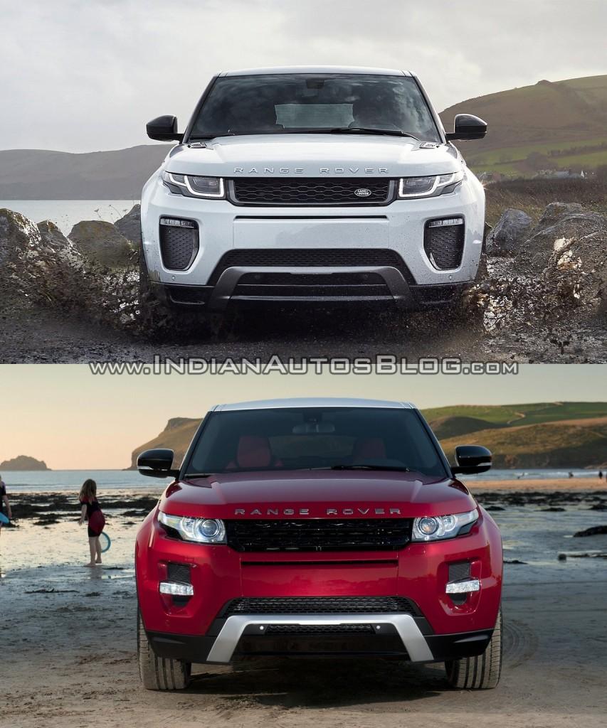 Range Rover Evoque Facelift Vs 2015 Range Rover Evoque